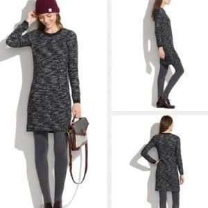 Madewell Charcoal Marled Gray Zip Dress